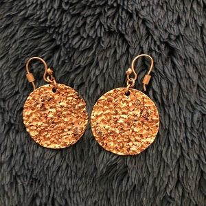 Gold and Pyrite Coin Earrings